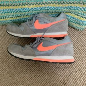 Nike coral and grey fashion sneakers